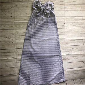 Tommy Bahama maxi striped dress strapless small